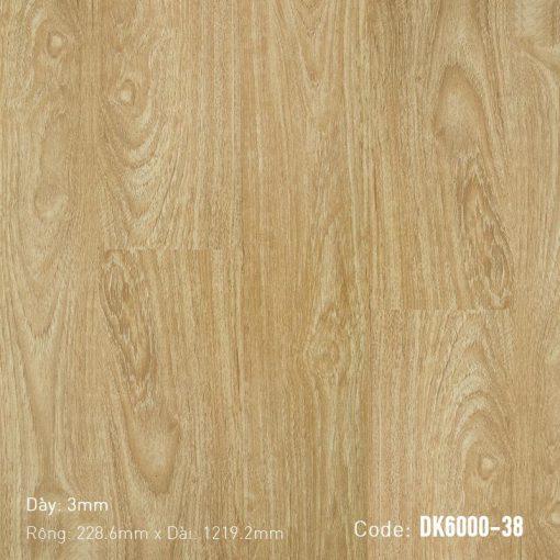 Sàn Nhựa Giả Gỗ Dán Keo DK6000-38