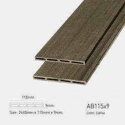 Gỗ Nhựa Ngoài Trời Awood AB115x9 Coffee