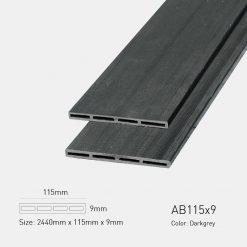 Gỗ Nhựa Ngoài Trời Awood AB115x9 Darkgrey