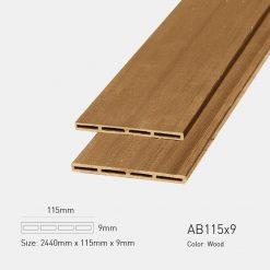 Gỗ Nhựa Ngoài Trời Awood AB115x9 wood