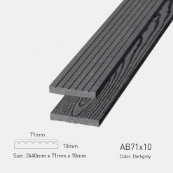Gỗ Nhựa Ngoài Trời Awood AB71x10 Darkgrey