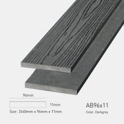Gỗ Nhựa Ngoài Trời Awood AB96X11 Darkgrey