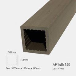 Gỗ Nhựa Ngoài Trời Awood AP140X140 COFFEE