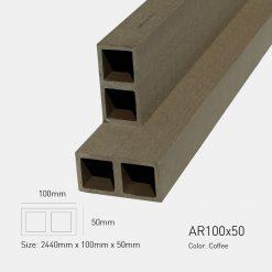 Gỗ Nhựa Ngoài Trời Awood AR100X50 COFFEE