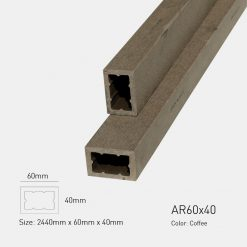 Gỗ Nhựa Ngoài Trời Awood AR60X40 COFFEE