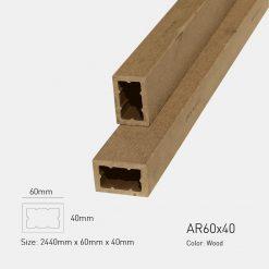 Gỗ Nhựa Ngoài Trời Awood AR60X40 WOOD