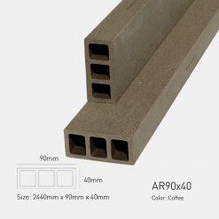 Gỗ Nhựa Ngoài Trời Awood AR90X40 COFFEE