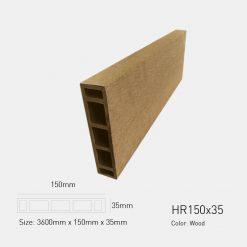 Gỗ Nhựa Ngoài Trời Awood HD150x35 wood