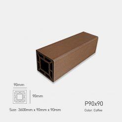Gỗ Nhựa Ngoài Trời Awood P90X90 COFFEE