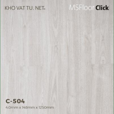 Sàn nhựa hèm khóa giả gỗ c504