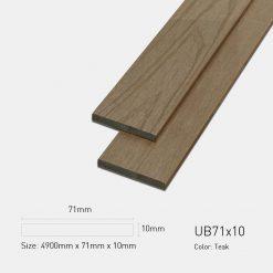 Gỗ Nhựa Ngoài Trời Ultrawood UB71X10 Teak