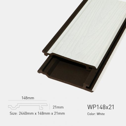 Gỗ Nhựa Ngoài Trời Ultrawood WP148X21 White