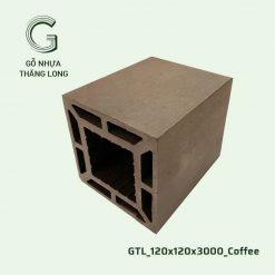 Gỗ Nhựa Thăng Long GTL_120x120x3000_Coffee (2)
