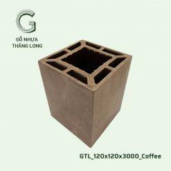 Gỗ Nhựa Thăng Long GTL_120x120x3000_Coffee