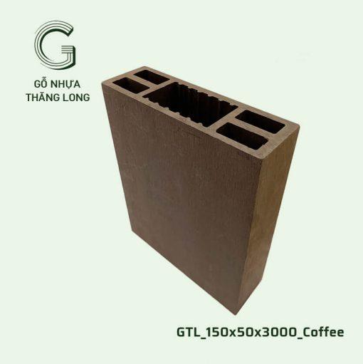 Gỗ Nhựa Thăng Long GTL_150x50x3000_Coffee (2)