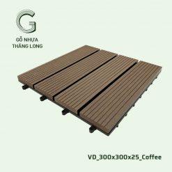 Vỉ Gỗ Nhựa Thăng Long VD_300X300X25_Coffee