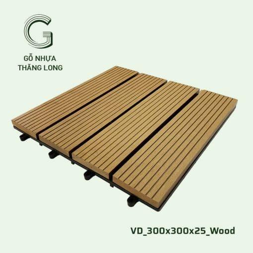 Vỉ Gỗ Nhựa Thăng Long VD_300x300x25_Wood