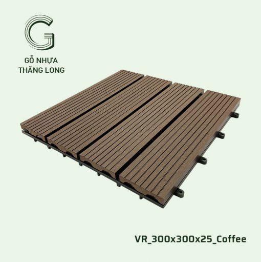 Vỉ Gỗ Nhựa Thăng Long VR_300X300X25_Coffee