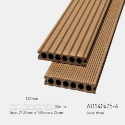 Sàn Gỗ Nhựa Ngoài Trời Awood 140X25-6 Wood