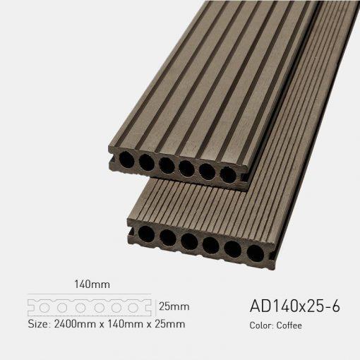 Sàn Gỗ Nhựa Ngoài Trời Awood AD140X25-6 Coffe