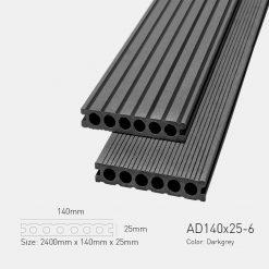 Sàn Gỗ Nhựa Ngoài Trời Awood AD140X25-6 Darkgrey