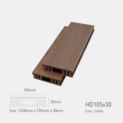 Sàn Gỗ Nhựa Ngoài Trời Awood HD105X30 COFFEE