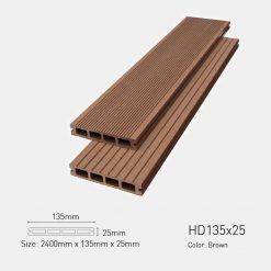 Sàn Gỗ Nhựa Ngoài Trời Awood HD135X25 BROWN