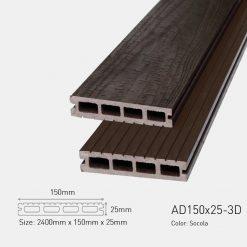 Sàn Gỗ Nhựa Ngoài Trời Awood HD150x25-3d
