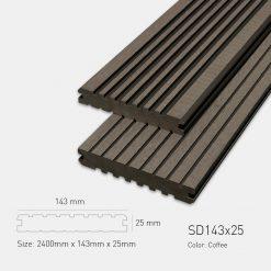 Sàn Gỗ Nhựa Ngoài Trời Awood SD143X25 COFFEE