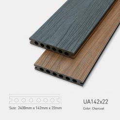 Sàn Gỗ Nhựa Ngoài Trời Ultrawood UA142X22 Charcoal
