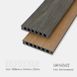 Sàn Gỗ Nhựa Ngoài Trời Ultrawood UA142x22 Red Sandalwood