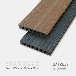 Sàn Gỗ Nhựa Ngoài Trời Ultrawood UA142x22 Red Teak