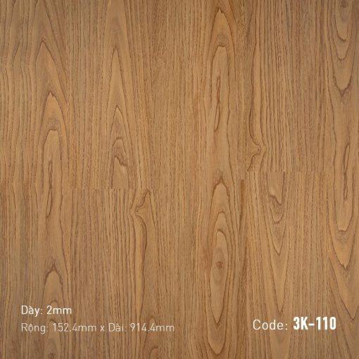 Sàn Nhựa Giả Gỗ Dán Keo 3K110
