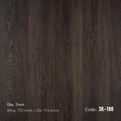 Sàn Nhựa Giả Gỗ Dán Keo 3K160