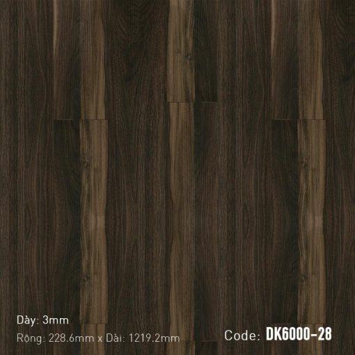 Sàn Nhựa Giả Gỗ Dán Keo DK6000-28