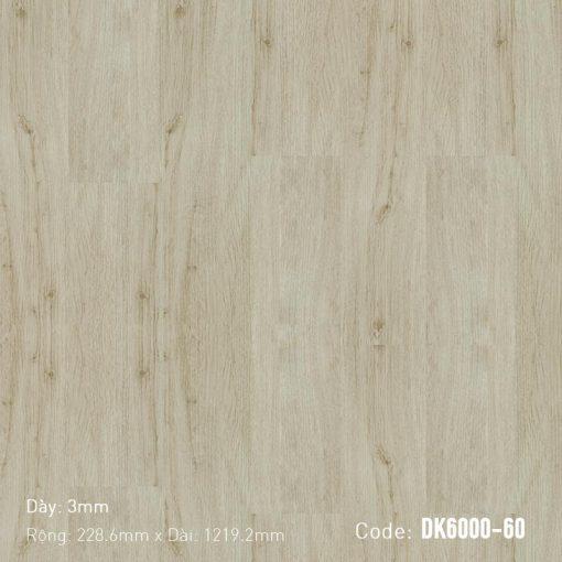 Sàn Nhựa Giả Gỗ Dán Keo DK6000-60