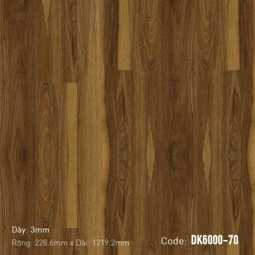 Sàn Nhựa Giả Gỗ Dán Keo DK6000-70