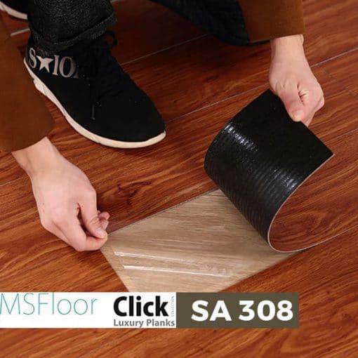 Sàn Nhựa Giả Gỗ Dán Keo MSfloor SA 308