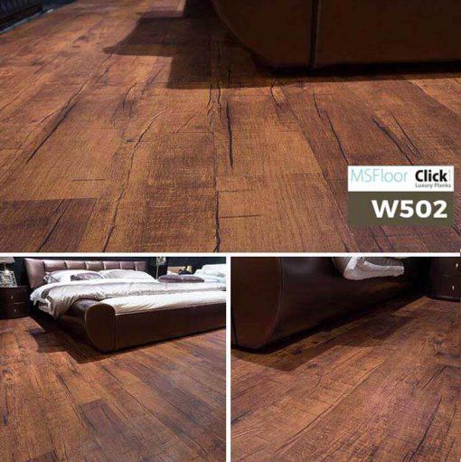 Sàn Nhựa Giả Gỗ Dán Keo MSfloor W502
