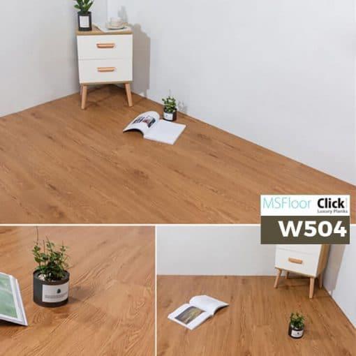 Sàn Nhựa Giả Gỗ Dán Keo MSfloor W504