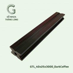 Gỗ Nhựa Thăng Long GTL_40x25x3000_DarkCoffee