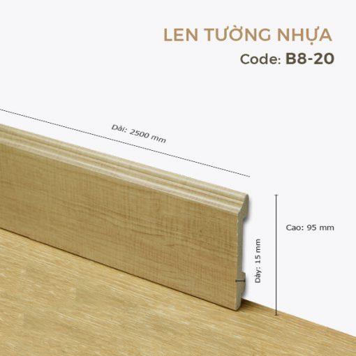 Len Tường Nhựa B8-20