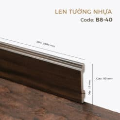 Len Tường Nhựa B8-40