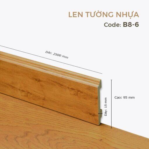 Len Tường Nhựa B8-6