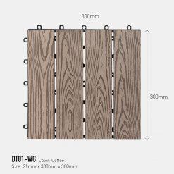 Vỉ Gỗ Nhựa Awood DT01-WG Coffee