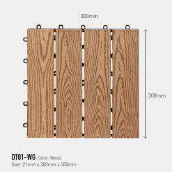 Vỉ Gỗ Nhựa Awood DT01-WG Wood