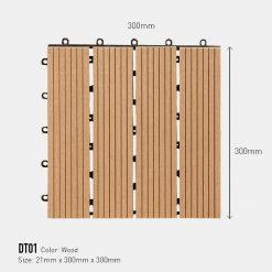 Vỉ Gỗ Nhựa Awood DT01 Wood
