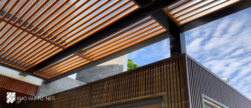Lam gỗ nhựa ngoài trời Trọng lượng nhẹ và chịu nhiệt tốt