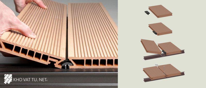 Sàn gỗ ngoài trời ít bị tác động bởi ngoại cảnh