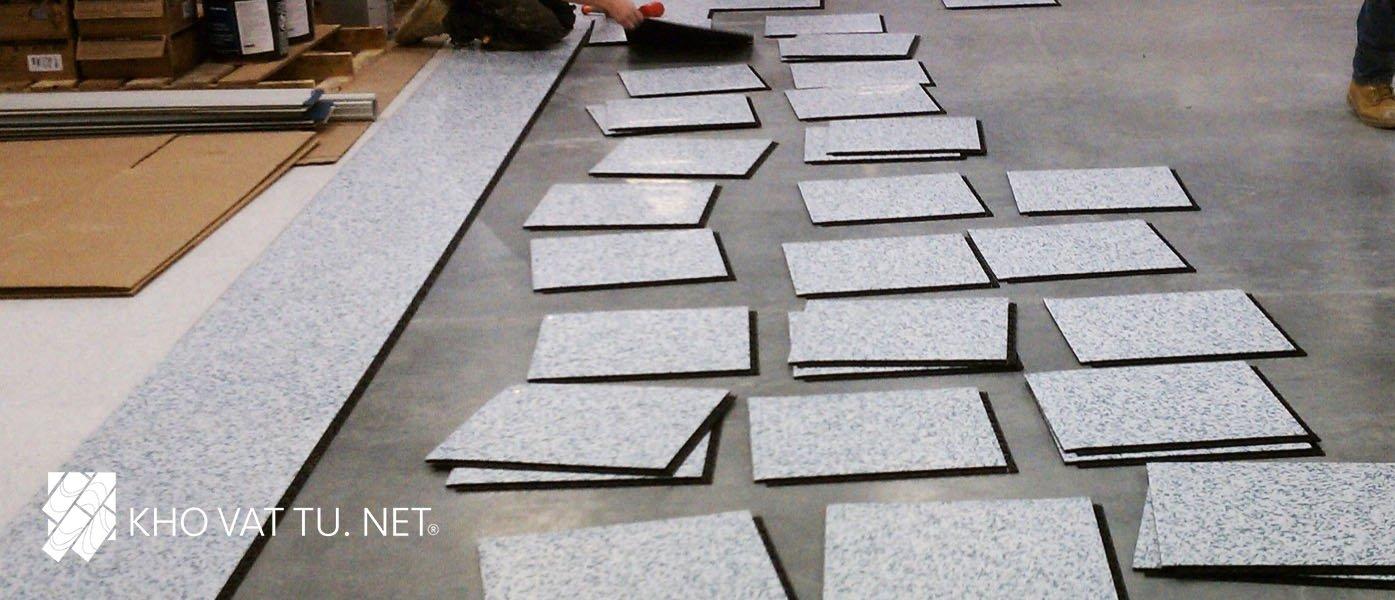 Thi công sàn vinyl chống tĩnh điện